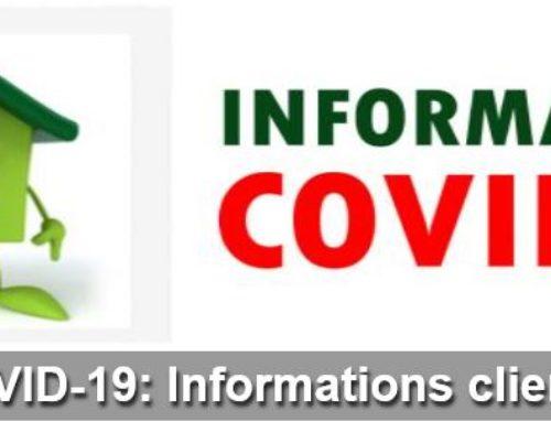 Informations Clients – Covid 19 – Organisation Sas Lasseux
